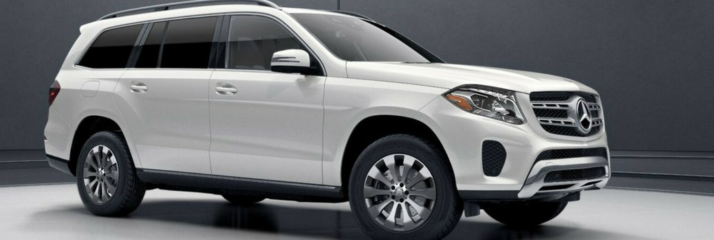 White 2018 Mercedes-Benz GLS SUV in showroom