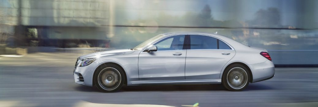 2018 Mercedes-Benz S-Class Sedan driving on the road