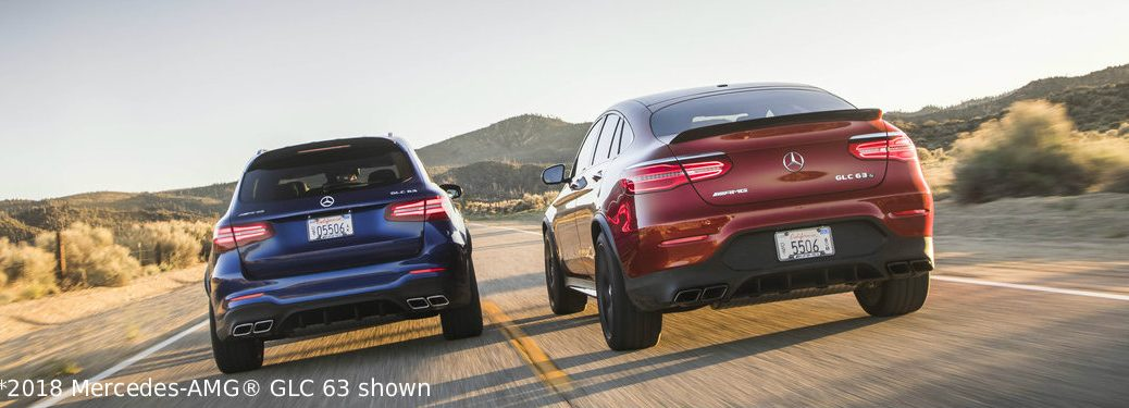 2019 MB GLC coupes driving next to each other