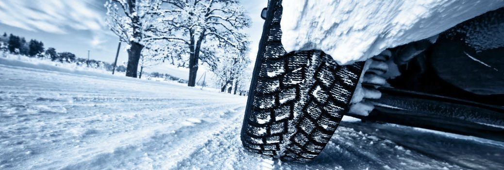 vehicle driving in winter weather