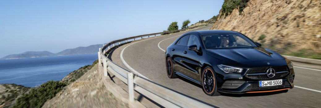 2020 MB CLA Coupe on the road