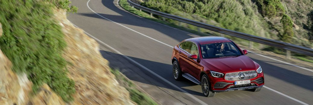 2020 MB GLC Coupe on the road