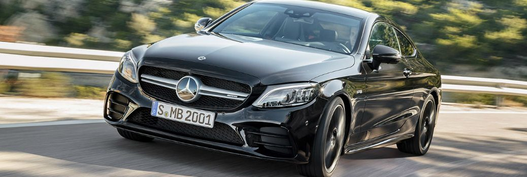 2019 Mercedes-Benz AMG C 43 Coupe on the road