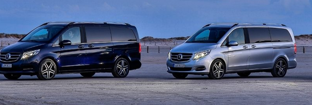 2019 Mercedes-Benz V-Class models parked in a lot