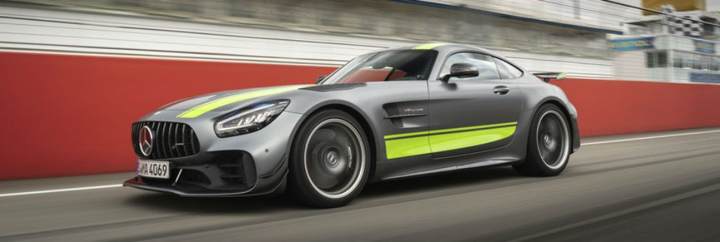 Mercedes-AMG® GT R PRO on a race track