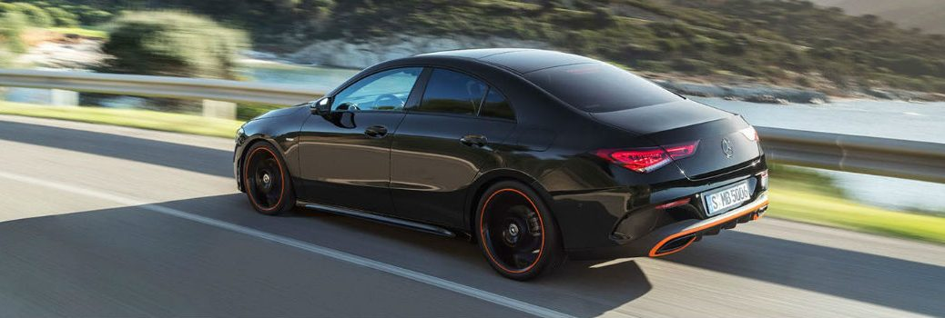 2020 Mercedes-Benz AMG CLA 45 on the road