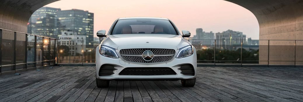 Head-on view of a 2020 Mercedes-Benz C 300
