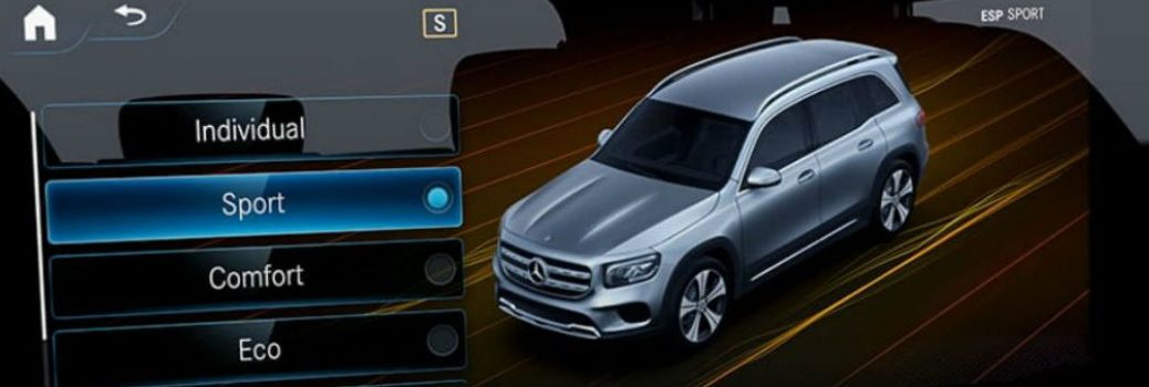 Mercedes-Benz SUV with graphic of the DYNAMIC SELECT feature