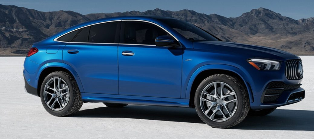 Blue 2021 Mercedes-Benz AMG GLE 53 Coupe in a tundra
