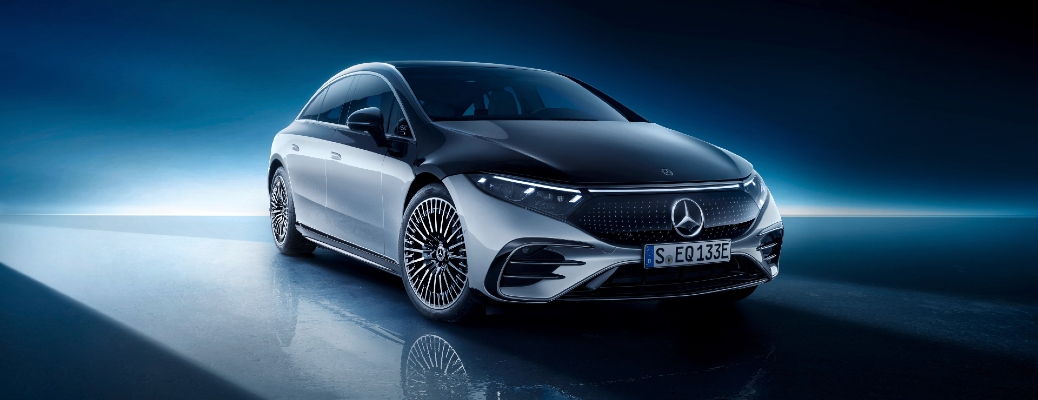 Mercedes-Benz EQS in futuristic realm