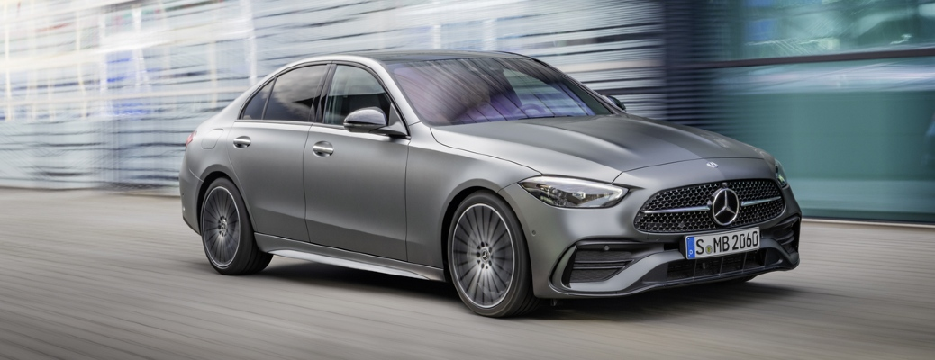 What driver assistance and safety features will come on the different trims of the 2022 Mercedes-Benz C-Class?