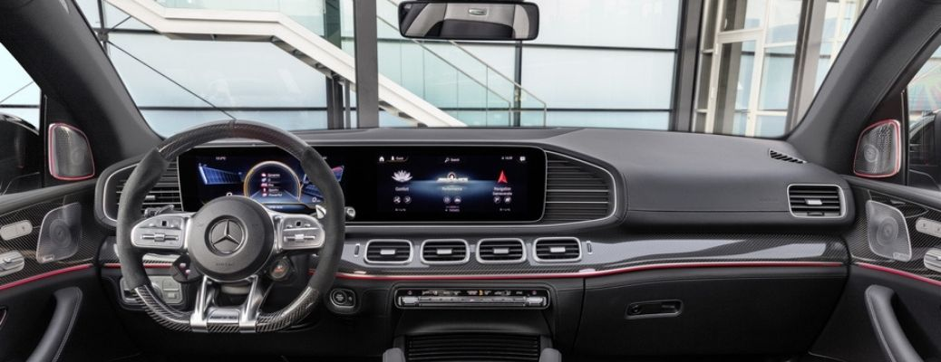 2021 Mercedes Benz GLE front interior view