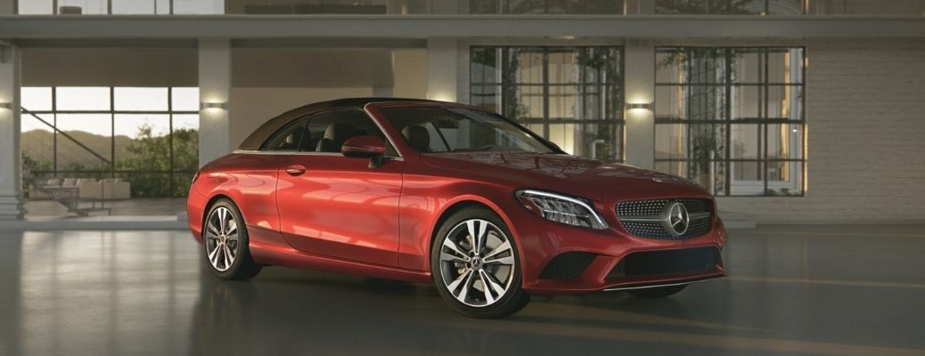 2021 Mercedes-Benz C 300 Cabriolet side and front view