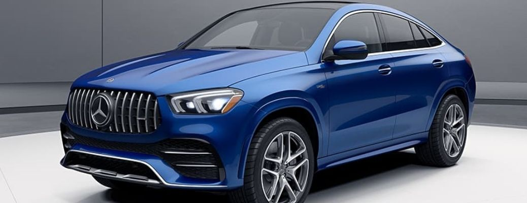 2021 Mercedes-Benz AMG GLE 53 Coupe front and side view