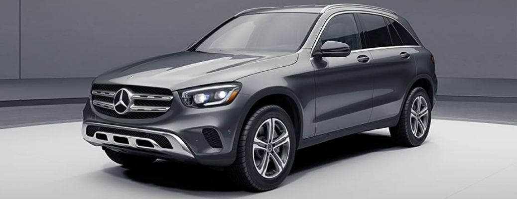 2021 Mercedes-Benz GLC 300 SUV front and side view
