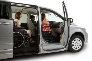 The wheelchair-accessible Dodge Grand Caravan Northstar conversion from Vantage Mobility (VMI).