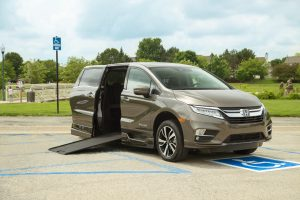 The exterior of the BraunAbility conversion on the Honda Odyssey.