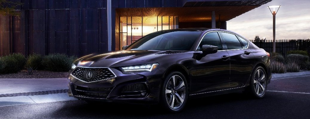 A front left quarter photo of the 2021 Acura TLX.