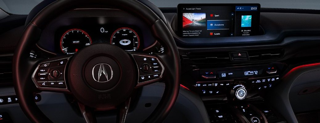 A photo of the touchscreen used in the 2022 Acura MDX.