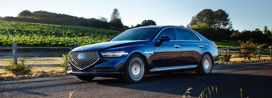 2021 Genesis G90 driving on a road