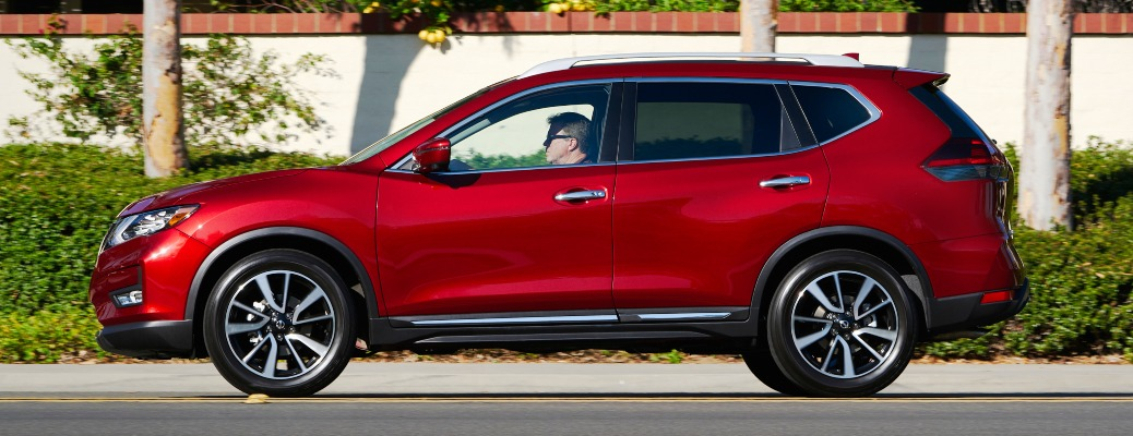 2020 Nissan Rogue red side view