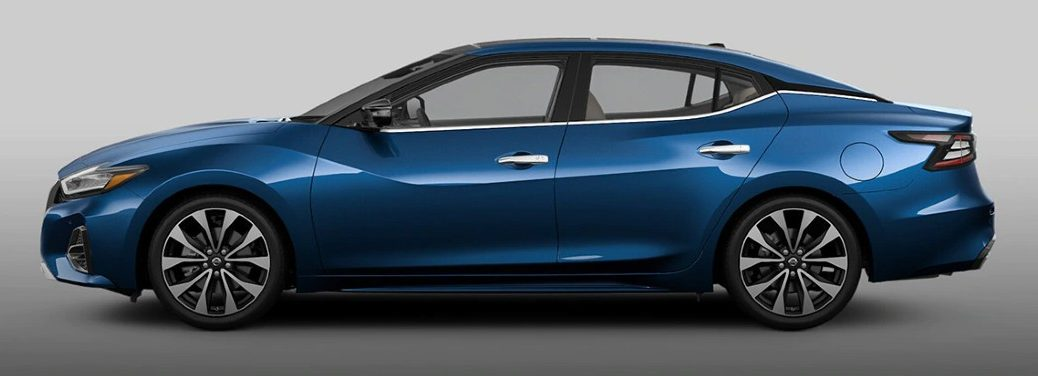 2021 Nissan Maxima blue exterior driver side parked