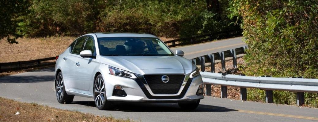 2021 Nissan Altima on the road