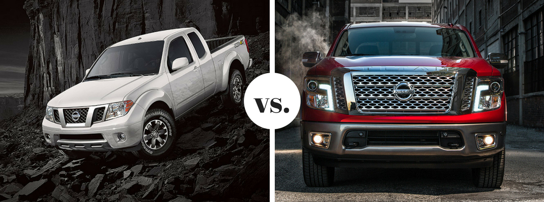 What are the differences between the Nissan Frontier and TITAN?