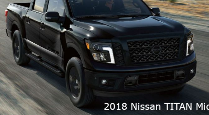 2018 Nissan Titan Midnight Edition Features with image of the truck driving on a rural road