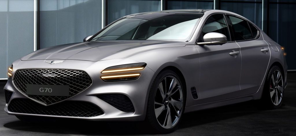 Front view of Genesis G70 model