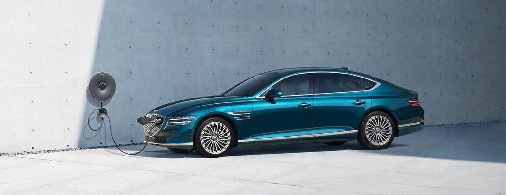 Exterior view of the 2022 Genesis Electrified G80