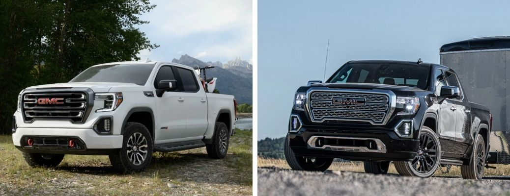 2021 GMC Sierra 1500 AT4 and 2021 GMC Sierra 1500 with Turbodiesel engine