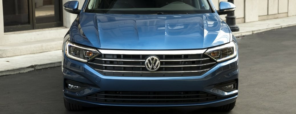 2019 VW Jetta Close up View of Blue Exterior