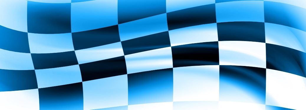 Waving racing checkered flag