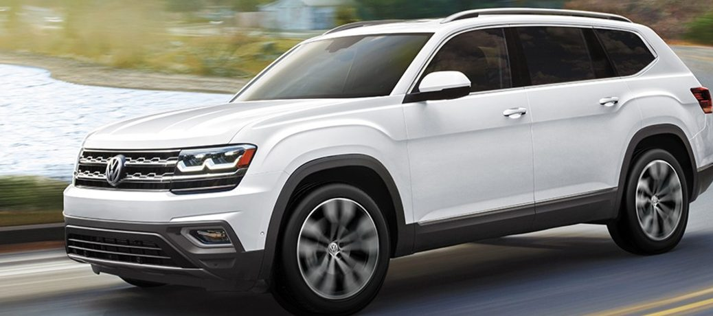 2020 Volkswagen Atlas driving on a road