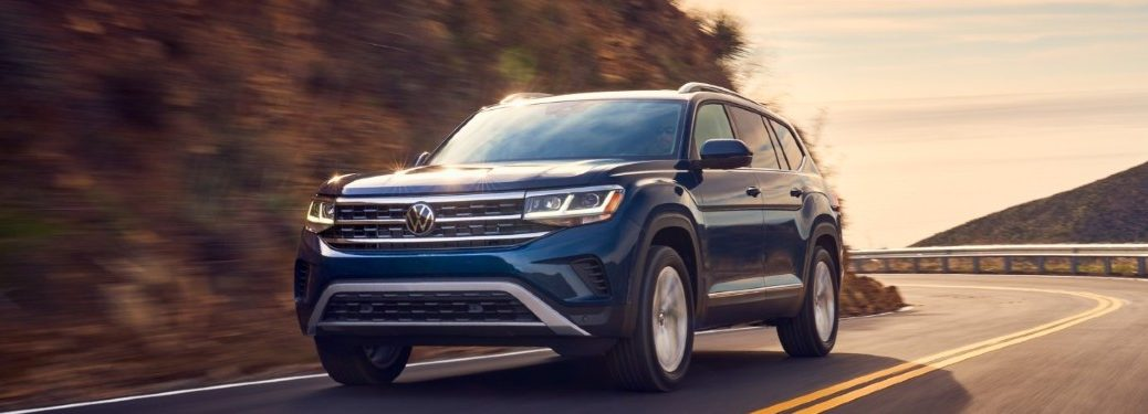 2021 Volkswagen Atlas driving on a road