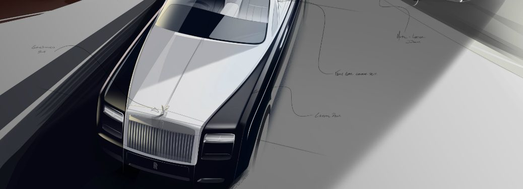 sketch of a rolls-royce phantom