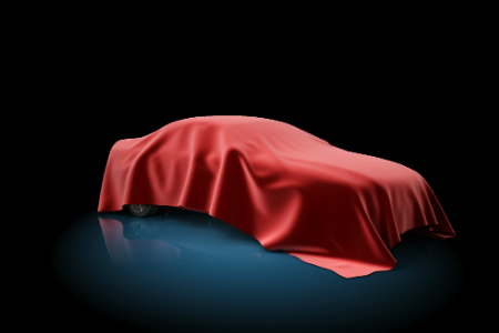 red sheet covering a car