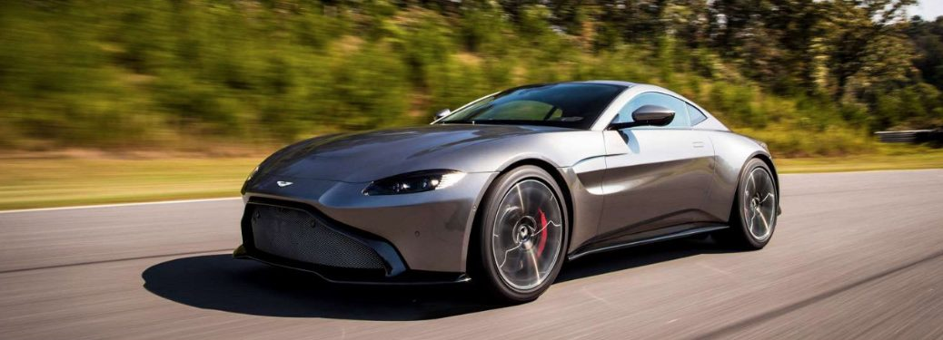 aston martin silver exterior on road