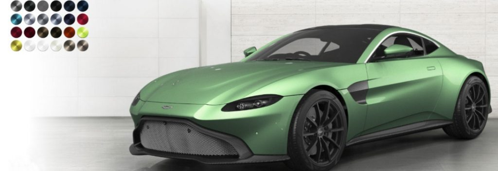 2019 Aston Martin Vantage Paint Color Options