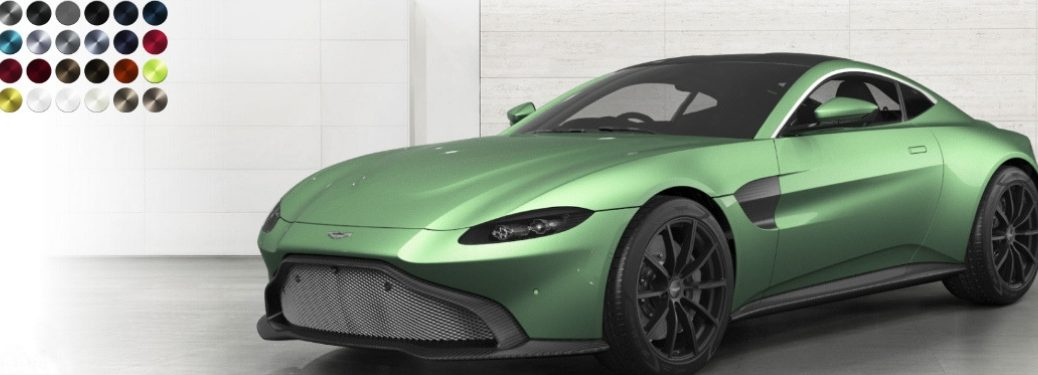 appletree green aston martin vantage with paint color palette