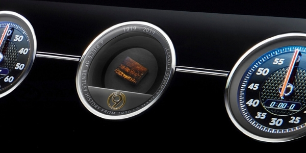 Bentley Continental GT Number 9 Edition Rotating Display with Piece of No. 9 Blower Seat