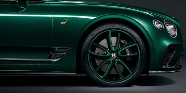 Green Bentley Continental GT Number 9 Edition Wheels and Side Exterior