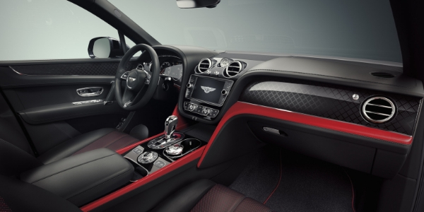Red and Black 2019 Bentley Bentayga V8 Design Series Front Seat Interior