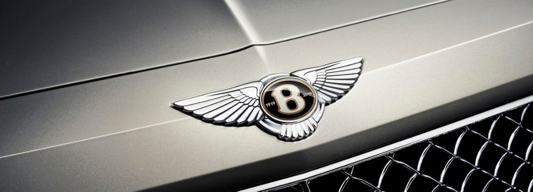 Close Up of Bentley Bentayga Hood Badge