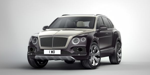 Black and White 2019 Bentley Bentayga on White Background