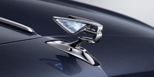 "Close Up of 2020 Bentley Flying Spur ""Flying B"" Hood Ornament"