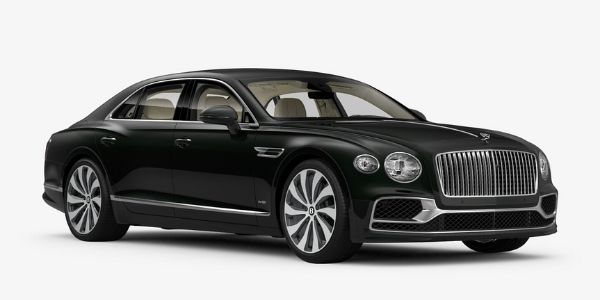 Midnight Emerald 2020 Bentley Flying Spur on White Background