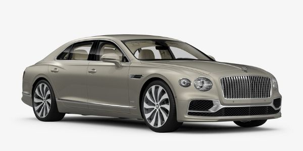 White Sand 2020 Bentley Flying Spur on White Background
