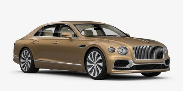 Camel 2020 Bentley Flying Spur on White Background